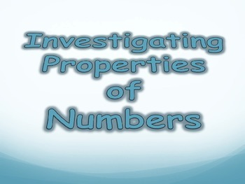 Investigating Numbers - Triangular Numbers, Square Numbers