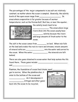 Properties of Ocean Water Note Taking Guide