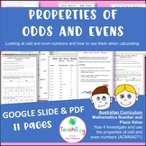 Properties of Odds and Evens