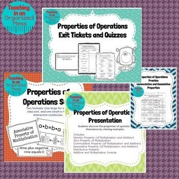 Properties of Operations BUNDLE