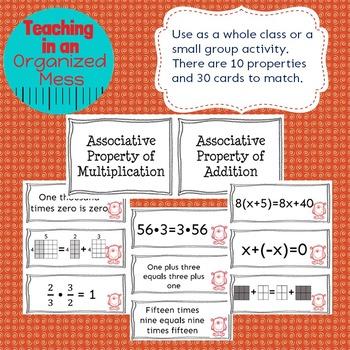 Properties of Operations Card Sort