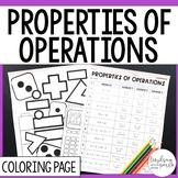 Properties of Operations Coloring Worksheet