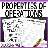 Properties of Operations Coloring Worksheet
