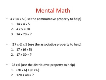 Properties of Operations: Commutative, Associative, Distributive, etc.(3.OA.B.5)