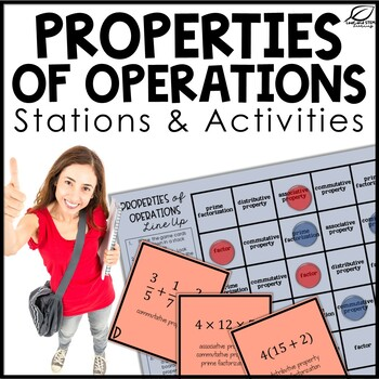 Properties of Operations Math Stations and Activities