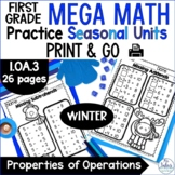 Winter Math Properties of Operations Mega Practice Winter 1.OA.3 First Grade