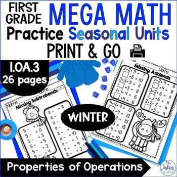Winter Math Properties of Operations Mega Practice Winter