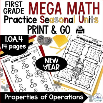 New Year 2017 Math Properties of Operations Mega Practice Winter 1.OA.4