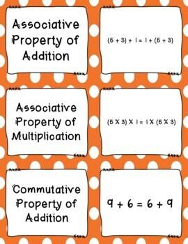 Properties of Operations Memory Match