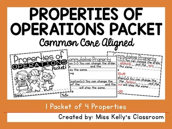 Properties of Operations Packet (Common Core Aligned)