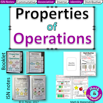 #Properties of Operations-Student Notes & Practice (Distributive Property...)