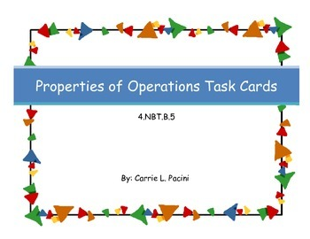 Properties of Operations Task Cards