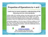 Properties of Operations to + and -