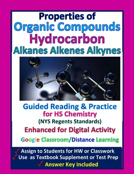 Properties of Organic Compounds, Hydrocarbons: Essential Skills Lesson #43 & 44