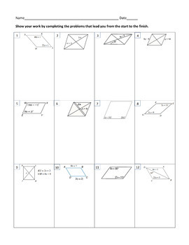 a-Mazing Mazes: Properties of Parallelogams