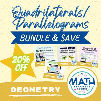 Properties of Quadrilaterals / Parallelograms - Activity Bundle