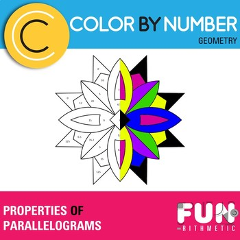 Properties of Parallelograms Color by Number
