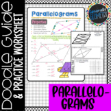 Properties of Parallelograms Doodle Guide & Practice Works