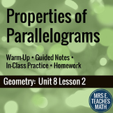Properties of Parallelograms Lesson
