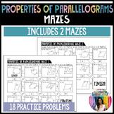 Properties of Parallelograms Mazes