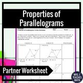 Parallelograms Partner Worksheet