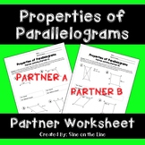 Properties of Parallelograms: Partner Worksheet