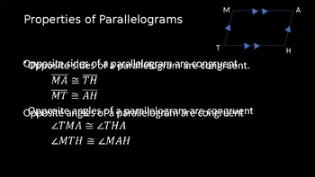 Properties of Parallelograms - PowerPoint Lesson (5.1)