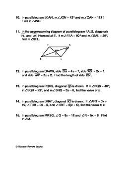 properties of parallelograms worksheet by d p f galli tpt. Black Bedroom Furniture Sets. Home Design Ideas