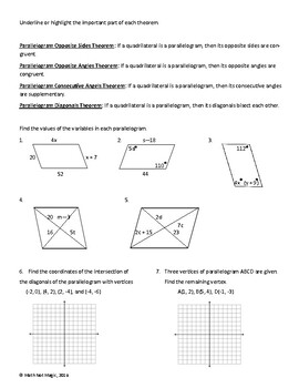 Properties of Parallelograms through Discovery!