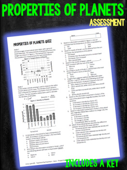 Properties of Planets Assessment