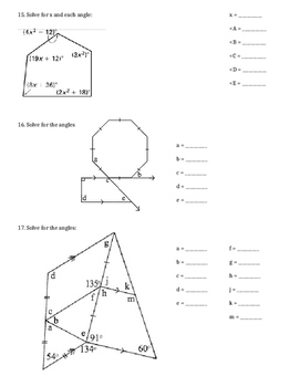 Properties of Polygons Review/Test