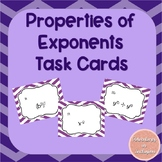 Properties of Powers Task Cards
