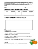 Properties of Pumpkins and Plants!