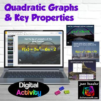 Properties of Quadratic Graphs Digital Task Cards with GOOGLE Slides