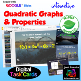 Properties of Quadratic Graphs Digital Task Cards with GOO