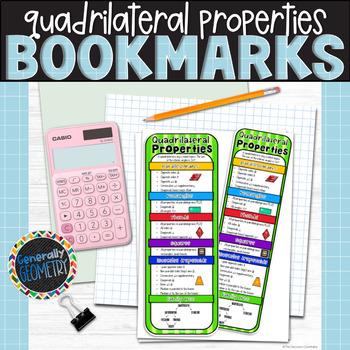 Properties of Quadrilaterals Bookmark; Resource Tool, Parallelograms, Rectangles