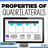 Properties of Quadrilaterals Digital Activities