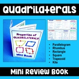 Properties of Quadrilaterals - Mini Review Book