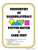 Properties of Quadrilaterals Poster Match & Card Sort