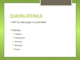 Properties of Quadrilaterals PowerPoint