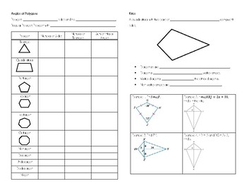 Properties of Quadrilaterls