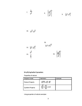 Properties of Rational Exponents and Radicals