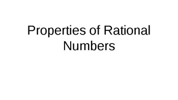 Properties of Rational numbers