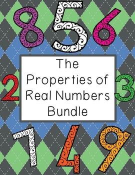 Properties of Real Numbers Bundle