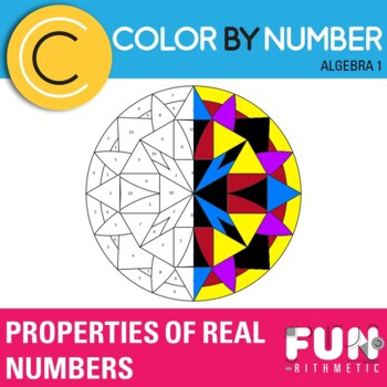 Properties of Real Numbers Color by Number