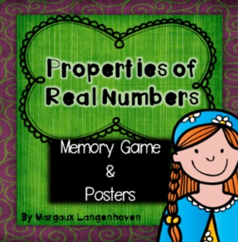 Properties of Real Numbers Memory and Posters