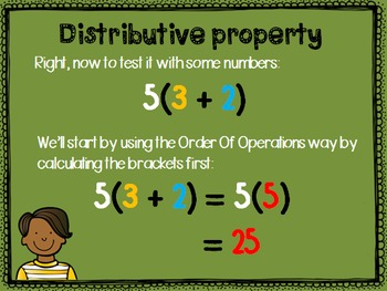 Properties of Real Numbers PowerPoint (Commutative, associative, distributive)