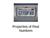 Properties of Real Numbers Powerpoint