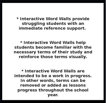 INTERACTIVE WORD WALLS Properties of Real Numbers and Number Lines