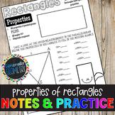 Properties of Rectangles Doodle Notes & Practice Worksheet